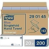 Tork Essuie-mains pliés en V - 290145 - Papier d'essuyage de qualité Universal pour Distributeur H3 - Origine traçable, pli e