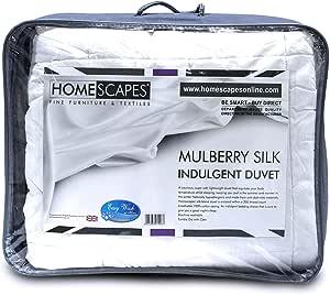 Singolo Homescapes 100/% pura seta di gelso Blend 90 x 190 cm White per materassi fino a 36/cm di profondit/à 700/GSM Heavy Weight Luxury topper