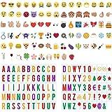 Lettres Lightbox, CrazyFire 199 Nombres, Lettres, Symboles Colorées pour Lightbox A4, Fête Noël Halloween Décoration