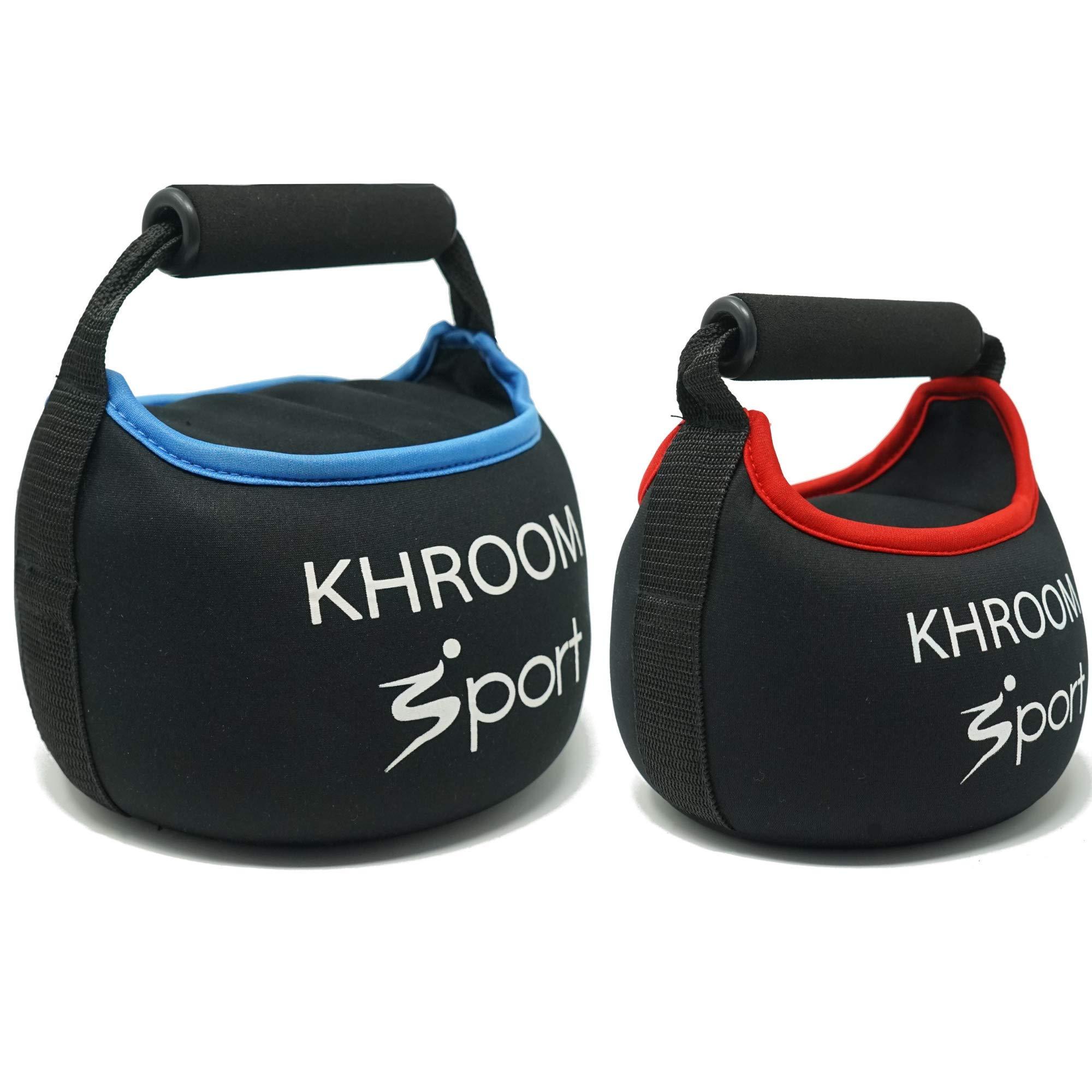 Khroom Sport weiche Kettlebell – von 3 bis 12 Kg – perfekt für Dein Hometraining – Neopren gefüllt mit Sand