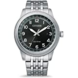 Citizen Reloj Analógico para Hombre de Eco-Drive con Correa en Acero Inoxidable BM7480-81E