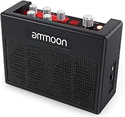 ammoon Gitarrenverstärker Mini Combo Amp Portable Verstärker für Gitarre, Multi-Effekte 80 Drum Rhythms, Tuner Funktionen, Kopfhöreranschluss