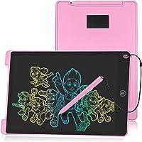 HOMESTEC Tavoletta Grafica LCD 12 Pollici Display Colorato Tavolo da Disegno Cancellabile (Rosa)