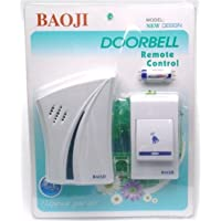 Yugg Baoji Wireless Cordless Calling Remote Door Bell for Home and Shop (Multicolour, Small)