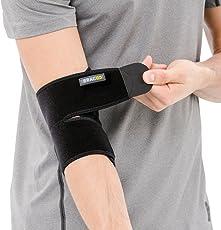 BRACOO Ellenbogenbandage – Ellenbogenschoner | atmungsaktive Ellenbogenorthese mit Klettverschluss für Damen und Herren