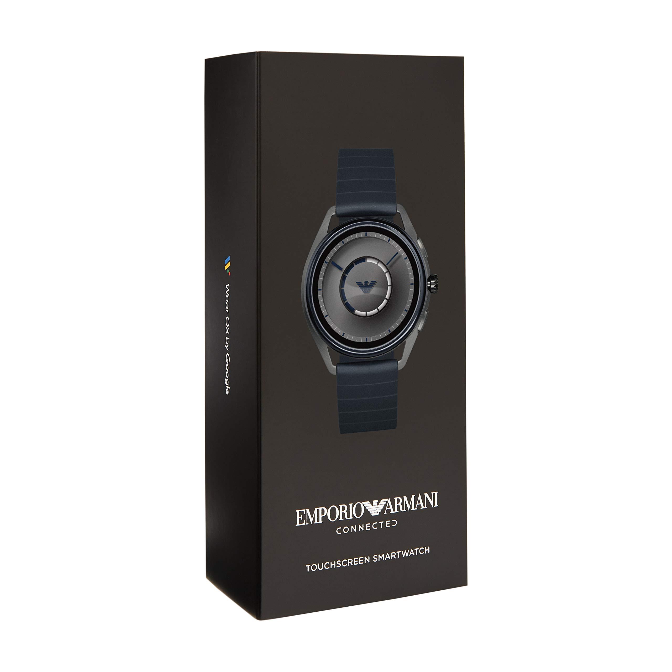 cf07fe5f5086 Inicio   Estilos   Bluetooth   Emporio Armani Smartwatch para Hombre con  Correa en Caucho ART5008