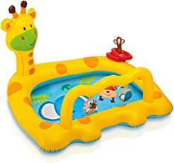 "Smiley Giraffe Design Baby Swimming Pool inflatable floating pool for kids Age 1 to 3 years (1.12m x 91cm x 72cm/44""x36""x28.5"")"