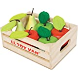 Le Toy Van - Wooden Honeybee Market Apples & Pears Crate | Supermarket Pretend Play Shop Food