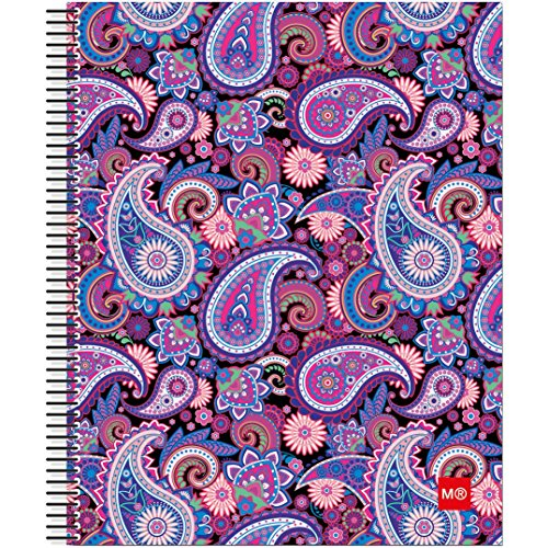miquel-rius-spiral-bound-ruled-notebook-85-inch-x-11-inch-purple-paisley-acrylic-multicoloured