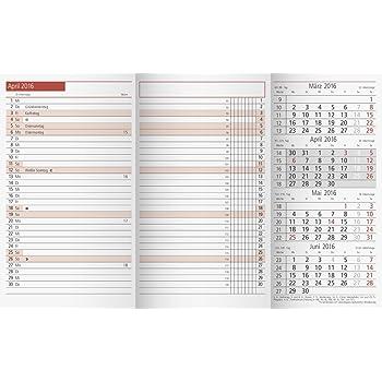 Relativ bsb Jahresübersicht Leporello Faltung Standardlochung A6 NE16