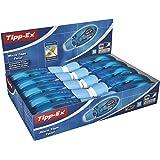 BIC Tipp-Ex Micro Tape Twist Cinta Correctora 8 m x 5 mm - Azul, Caja de 10 Unidades, con Cabezal Rotativo Para Proteger la P