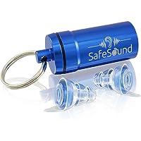 SafeSound® Ohrstöpsel [klein] für Konzert, Musik, Disco, Festivals und Partys - Erhält Tonqualität & Dämpft Lärm - Bequem und Unsichtbar im Ohr