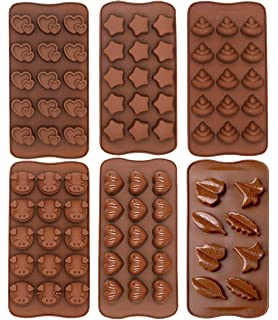 Cioccolato Stampi Fai da Te Forme Diverse 6 Pezzi Stampi in Silicone per Caramelle e Cioccolato Stampi Flessibili e Facili da Pulire per Cioccolatini Cioccolato per Caramelle Burro di Arachidi