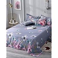 Home Elite 200 TC Glace Cotton Microfiber Designer Double Bedsheet with 2 Pillow Covers , Multicolor