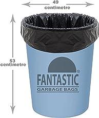 Fantastic Premium Garbage Bags, 49x53cm x3 Rolls, 90 Bags (Black)