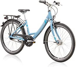 Unbekannt Tretwerk Magnolia 24 Zoll Citybike Mädchen Blau