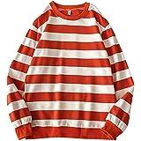 Kelei Men's Women's Striped Crew Neck Sweatshirt Pullover Men Women Teenager Fashion Sweater Jumper Top