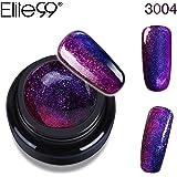 Elite99 UV Nagellack farbgel Gel Nail Art Gel Polish Chamäleon Farbwechselnd Hologramm (1xStück+1 x Stück KOSTENLOSER Pinsel)
