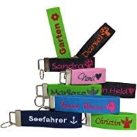 Schlüsselanhänger mit Name oder Spruch personalisiert - individuell bestickt - Filzanhänger Glücksbringer Weihnachten…