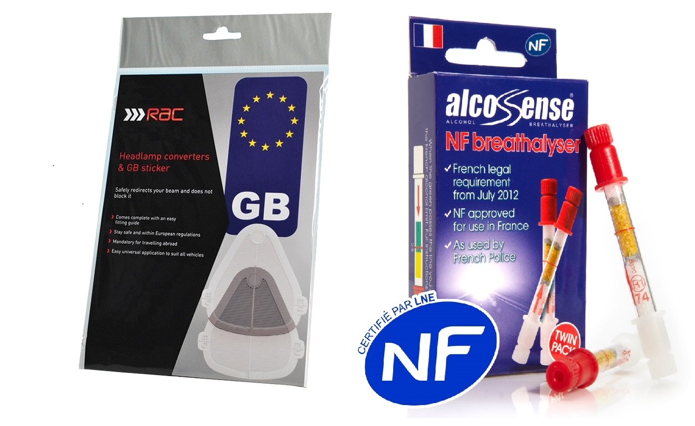 Suitable for all vehicles.. Headlight Beam Deflectors RAC Headlamp Beambenders /& Convertors SET including FREE GB STICKER /& European Motoring leaflet for Continental and UK Driving