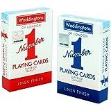 Klassisk röd och blå tvåpack Waddingtons nummer 1
