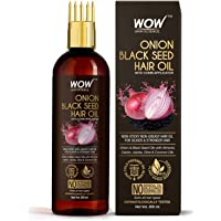 WOW Skin Science Onion Oil - Black Seed Onion Hair Oil - WITH COMB APPLICATOR - Controls Hair Fall - NO Mineral Oil…