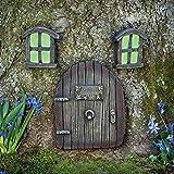 Bits und Teile–Miniatur Glow in The Dark Fairy Garden Feen Schlafsack Tür und Windows Baum Statuen–Baum Hugger Hof und Garten Skulpturen Mystical Fairy Garden GNOME Home