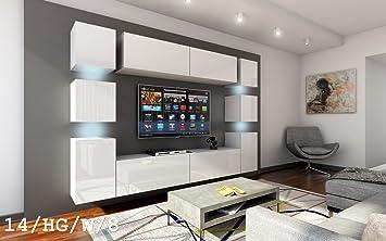 future 14 wohnwand anbauwand wand schrank möbel tv-schrank ... - Schrank Wohnzimmer Weiß