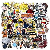 KOWASO 50Pcs Naruto Laptop Stickers Anime Waterproof Stickers for Skateboard, Luggage,Helmet,Guitar
