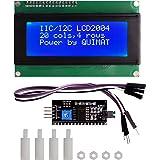 Arduino LCD Module,Quimat IIC/I2C/TWI Serial 2004 20x4 LCD Module Shield pour Arduino UNO R3 MEGA 2560 Avec 4PIN Mâle à Femelle Wires Câble 4pcsNylon column avec Nut