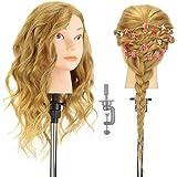 Têtes d'exercice Professionnelle Neverland 16'' 100% Cheveux Naturels Tête à Coiffer Coiffure Cosmétologie Pratique…