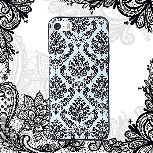 iPhone 6 hülle,iPhone 6s hülle,Lizimandu TPU 3D Handyhülle Muster Case Cover Für iphone6/6s(Blaue Blume/Blue Flower) Spitze Blume/Lace Flower