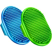 Boltz Bath and Deshedding Brush for Dogs & Cats | Hand Brush - 2 Piece (Color May Vary)