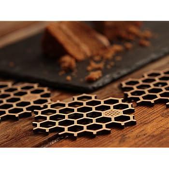Untersetzer Aus Bambus In Bienenwaben Form Fur Bierglaser Oder