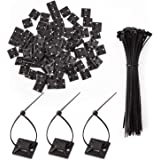 LUTER 100 stuks kabelbinder Lijmmontages Zelfklevende Kabelbinder Basishouders Met 100 stuks Multifunctionele Kabelbinder (15