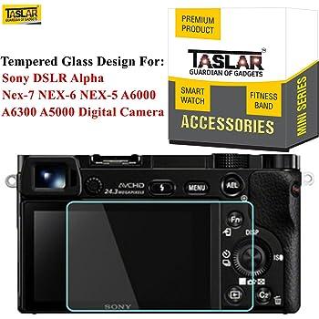 Taslar Tempered Glass Screen Protector for Sony DSLR Alpha A6000 A6300 A5000 NEX-3N NEX-6L Nex-7 NEX-6 NEX-5 Digital Camera,(Transparent)
