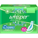 Whisper Ultra Clean Sanitary Pads for Women, XL+ 50 Napkins - Pantry