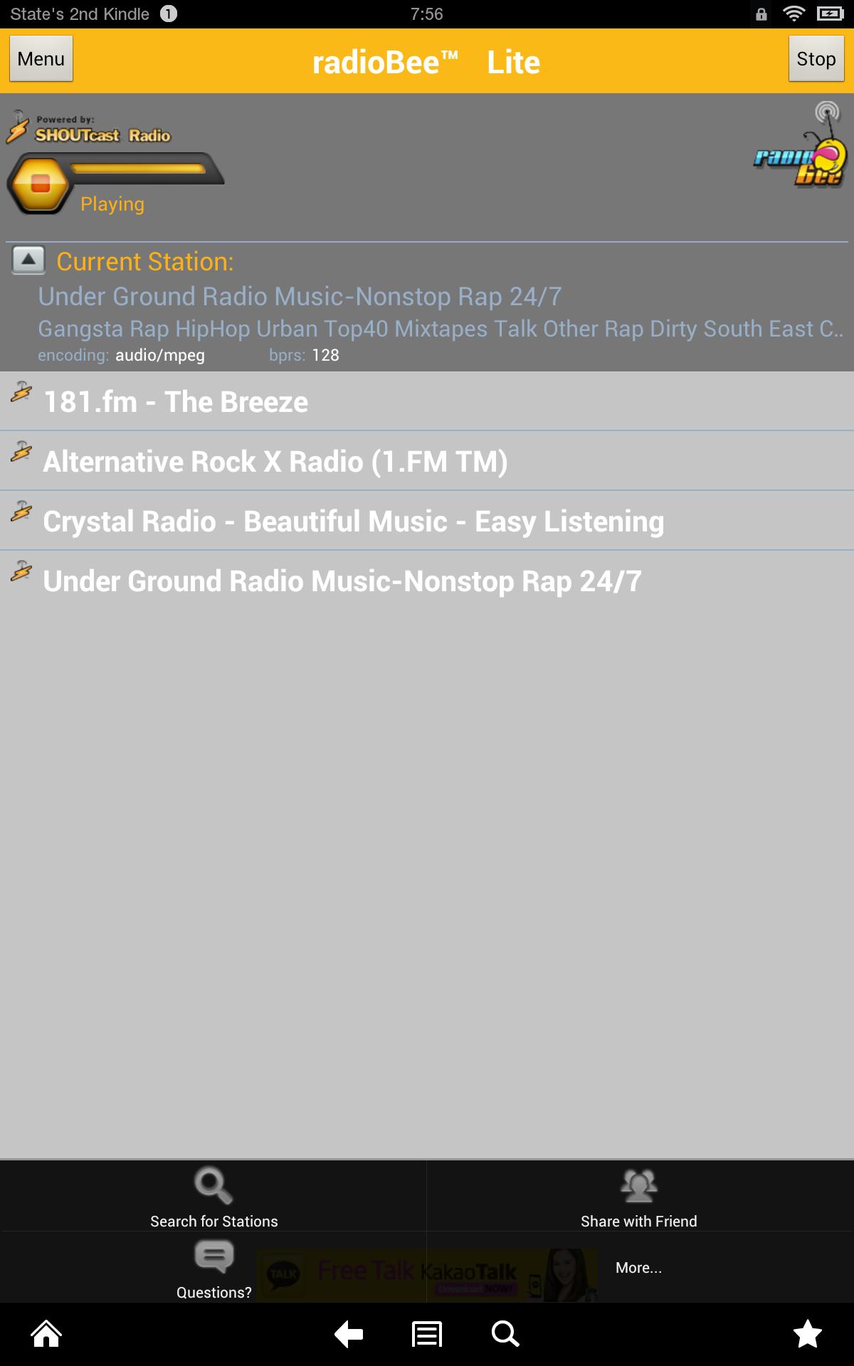 radioBee Lite: Amazon co uk: Appstore for Android