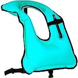 Rrtizan Simvästar - Bärbara uppblåsbara badjackor säkerhet för vuxna kvinnor och män, idealiskt flythjälpmedel för snorkling,