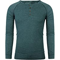 FTIMILD Mens Long Sleeve Shirts Casual Cotton Plain Henley T Shirts Tops Tee