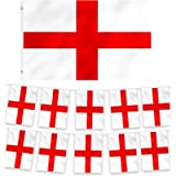 REDSTAR England, Scotland, Wales Bunting and Single Flag - 2pc Set, 10m Long Bunting and 3ft x 5ft Single Flag, St…
