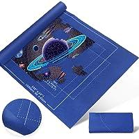 Zaloife Tapis Puzzle, Tapis pour Puzzle en Feutre, Tapis de Puzzle Portable, Rouleau Puzzle Bleu pour Puzzles Portables…
