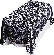 Surfmall Halloween Deko Tisch Spinnennetz Tischdecke Tischdeko Fledermaus Größe