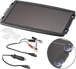 reVolt Solarpanel 12V: Solar-Ladegerät für Auto-Batterien, 12 Volt, 2,4 Watt (Solar Ladegeräte für Autobatterien)
