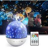 Lámpara Proyector Infantil,Petrichor 360° Rotación Iluminación infantil nocturna, con 6 películas de proyección ,8 cómodo can