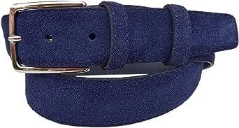 ESPERANTO Cintura uomo donna in pelle Scamosciata artigianale 3,5 cm unisex