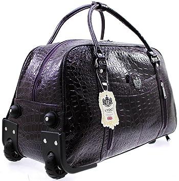 LYDC Snake Print Fashion Holdall/Weekend Bag/Trolley Bag - Purple ...