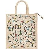 DUSSLE DORF Eco Friendly Shopping Grocery Lunch Tota Jute Bag  Jute Bag with Zip Tiffin Bag
