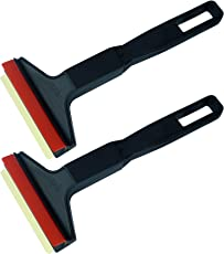 L&P Car Design GmbH L&P A053 2 Stück Eiskratzer Murska Eisschaber Messing Messingschaber Original aus Finnland 100% Top Qualität 90mm Schaber (2 Stück L&P A053 Schwarz-Rot)