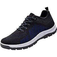 Scarpe da corsa da uomo in tessuto a rete con lacci traspirante suola morbida scarpe casual maratona trail running…